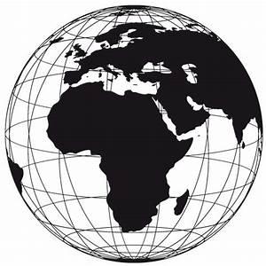 Weltkugel Globus Erde Gitter Wandtattoo