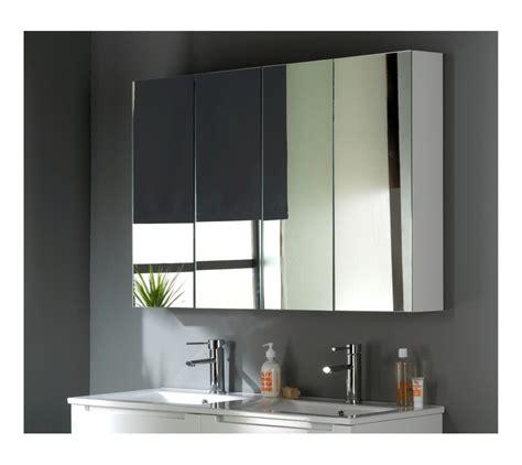armoire miroir 120 cm blanc laqu 233 salle de bain wc