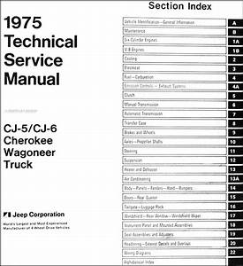 1975 Jeep Repair Shop Manual Cj5 Cj6 Renegade Cherokee