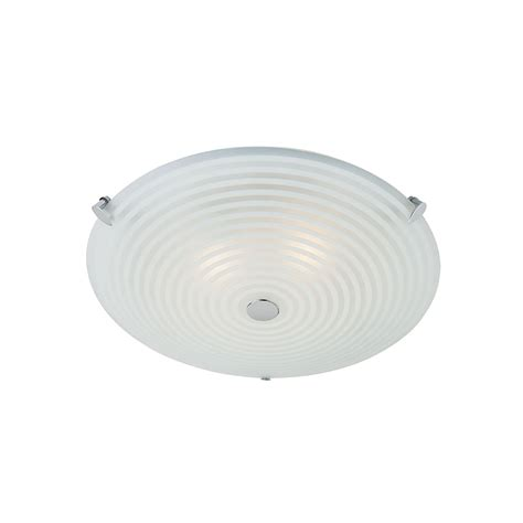 endon roundel frosted and clear glass flush ceiling light