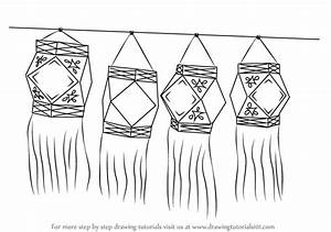 Learn How to Draw Diwali Lanterns (Diwali) Step by Step ...