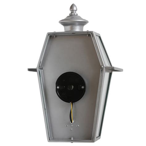 large flat stainless steel wall light for outdoors terra