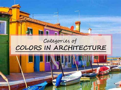 Category of Colors in Architecture and Design Colour