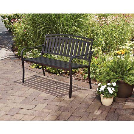 black outdoor bench mainstays slat outdoor garden bench black walmart