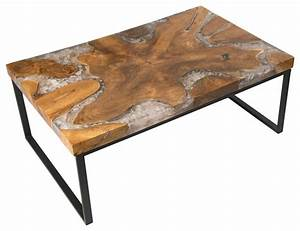 Cracked Resin Coffee Table - Modern - Coffee Tables - by