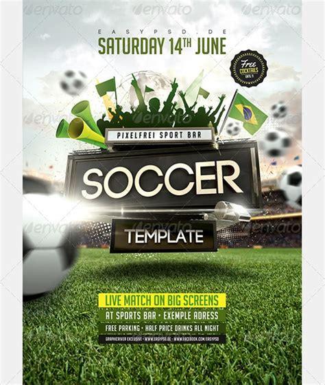 soccer flyer templates psd word eps vector ai