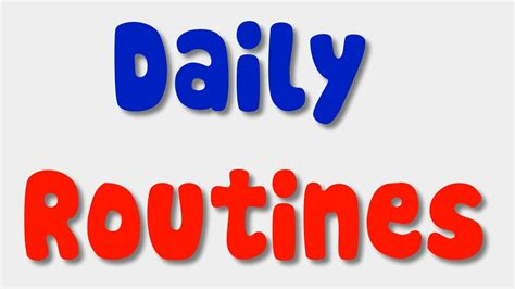 English Song for Kids - Daily Routines - YouTube