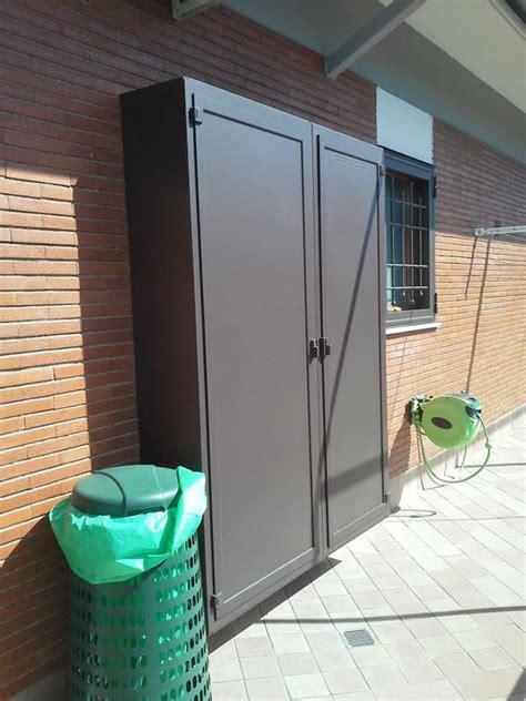 armadi in alluminio per esterni armadio copricaldaia ripostiglio in alluminio