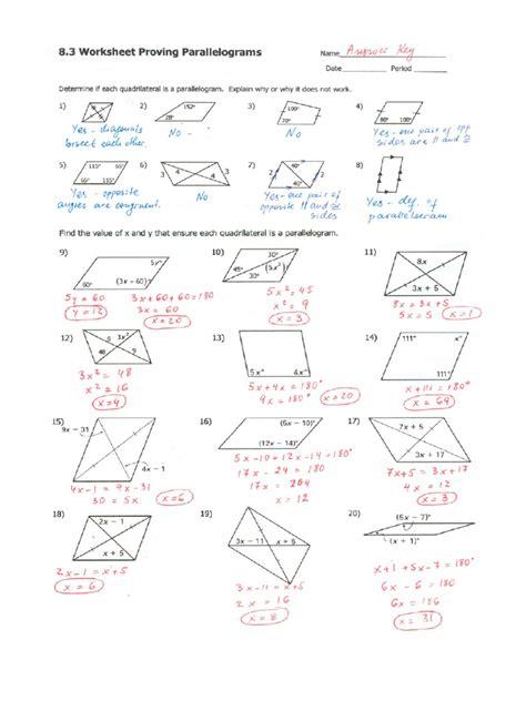 worksheet parallelograms worksheet grass fedjp worksheet
