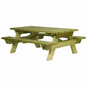 Table Bois Pique Nique : table banc bois pour jardin ~ Melissatoandfro.com Idées de Décoration