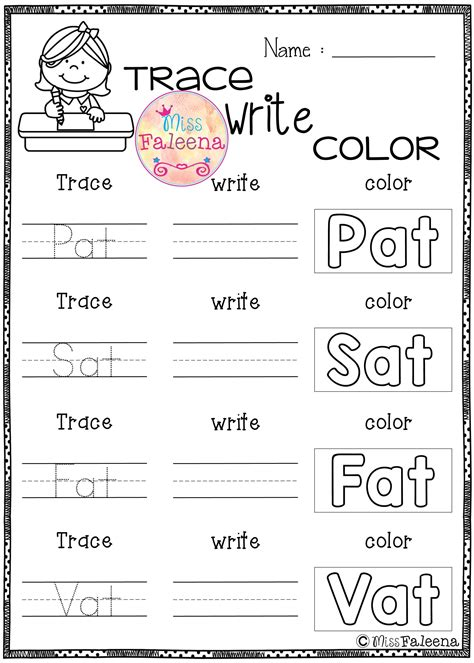 fresh cvc words worksheet  kindergarten fun worksheet
