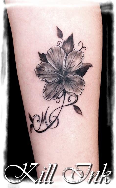 Fleur Ombrage, Tatouage Style Divers Par Amandine Killink