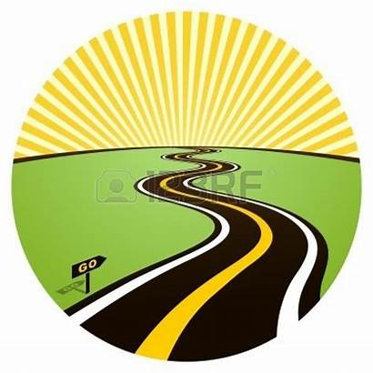 Clipart Road Sunset Into Highway Curvy Clipground