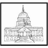 Capitol Coloring Congress Printable History Template Pages sketch template