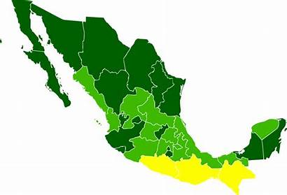 Mexico States Messico Mexican Svg Poverty Wikipedia