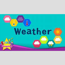 Kids Vocabulary  Weather  How's The Weather?  Learn English For Kids  English Educational