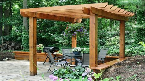 pergola simple patio basic arbor transforms easy ideas