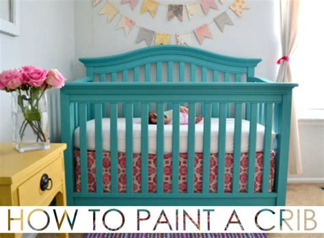 painting a baby crib how to paint a crib project nursery