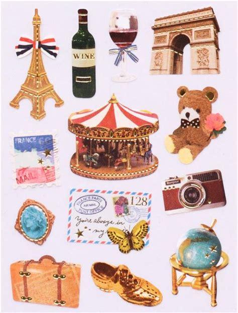pens for sale vintage eiffel tower carousel sticker set 3 pcs