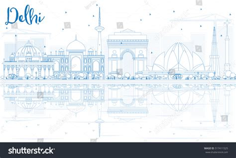 Outline Delhi Skyline Blue Buildings Reflections Stock Best Price Business Cards Uk Stop Talking Amazon Printer Dallas Black And Gold Designs Card Holder India Credit With 0 Apr Unique