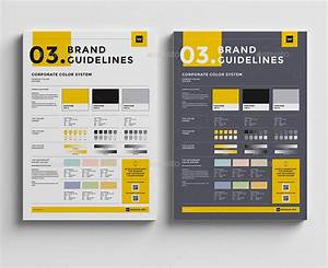 brand manual template 3 colors by egotype graphicriver With user manual design template