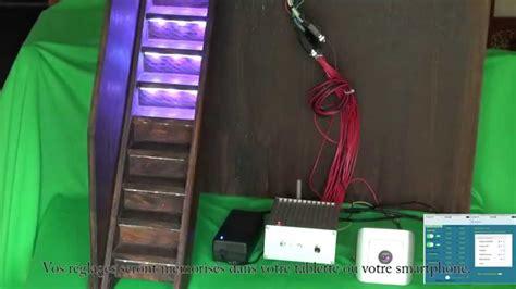 kit led pour escalier escalier 224 bandeaux led boitier de commande wifi