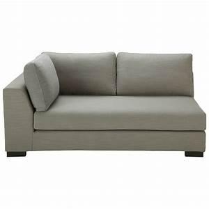 canape modulable accoudoir gauche en tissu monet gris With tapis jaune avec canapé lit sans accoudoir