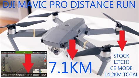 kmx dji mavic pro long distance range test  stock ce