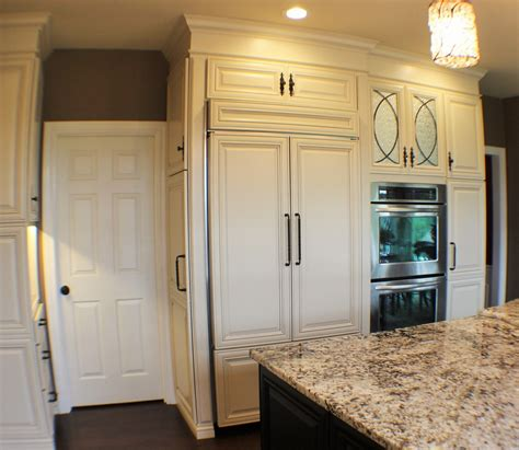 kitchen cabinets refrigerator panels panel ready refrigerator kitchen traditional with built in