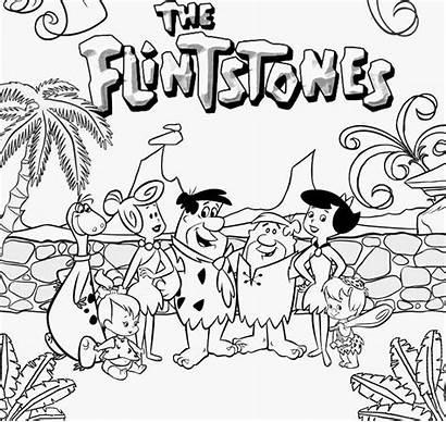 Flintstones Coloring Pages Cartoon Drawing Teenagers Stone