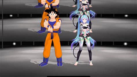 Mmd Gagnam Style Kakarot Goku Hatsune Miku Youtube