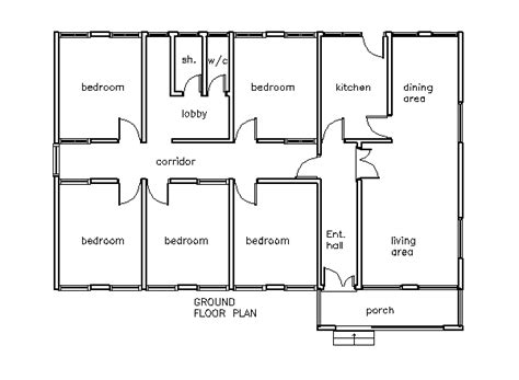 5 bedroom 1 house plans house plans 5 bedroom house plan in for
