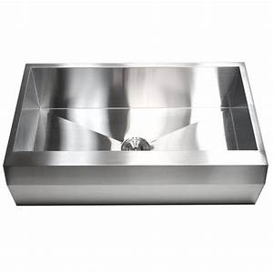 36 inch stainless steel single bowl zero radius well With 36 inch white apron sink