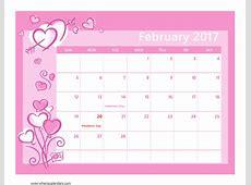 February 2017 Calendar Cute