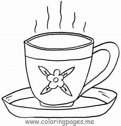 Tea Coloring Cup Pages Printable Cups Teacup