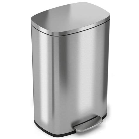 Itouchless Softstep 132 Gal Stainless Steel Step Kitchen