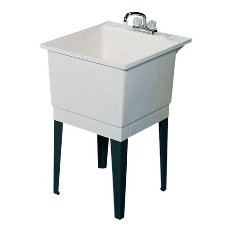 Home Depot Utility Sink by Swan 25 In X 22 In Polypropylene Laundry Tub Shopyourway