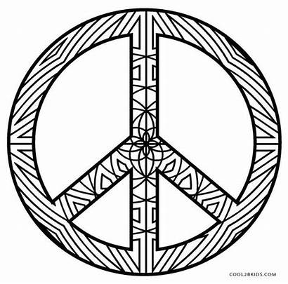 Peace Coloring Sign Pages Printable Mandala Word