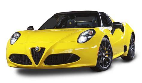 Alfa Romeo Car by Alfa Romeo 4c Spider Yellow Car Png Image Pngpix