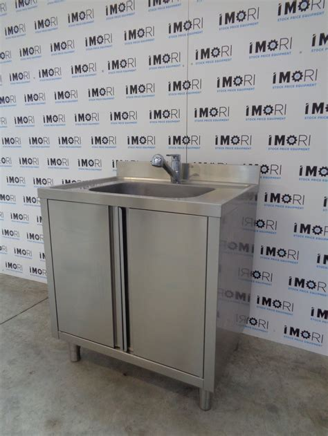 lavello usato lavello armadiato usato con porte battenti in acciaio inox