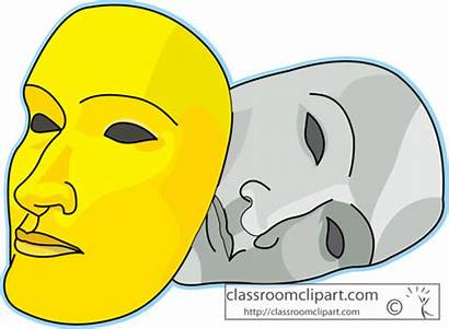 Clipart Theatre Masks Acting God Theater Intended