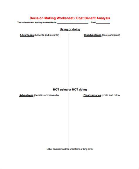 cost benefit analysis worksheet resultinfos