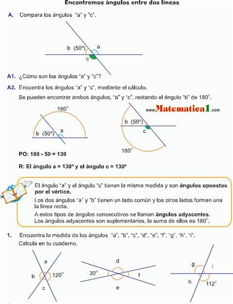 Los Ángulos Ejemplos Resueltos De GeometrÍa De Quinto De