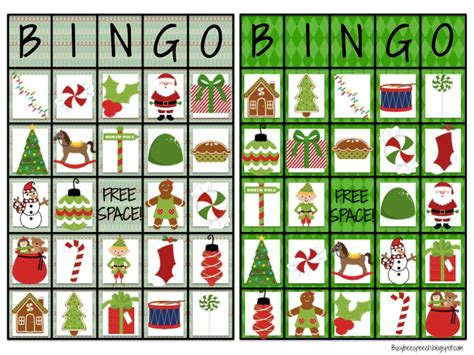 busy bee speech christmas bingo