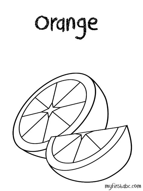 coloring pages orange coloring home