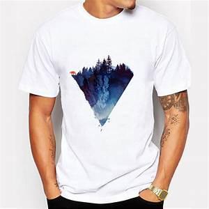 Fashion Iceberg Print T shirt Men Mountain Design T Shirts ...