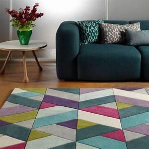tapis moderne multicolore avec motifs chevrons en laine With tapis chambre bébé avec livraison fleurs lendemain