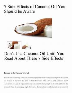 7 Side Effects Of Coconut Oil You Should Be Aware By
