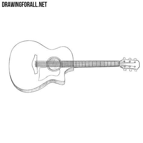 draw  guitar drawingforallnet