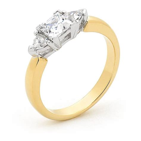 princess cut three engagement ring andrew mazzone jewellers adelaide engagement